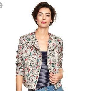 GAP floral moto style jacket
